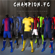 Professional Customize 2017 2018 Soccer Jerseys Mens kids Breathable Soccer Set  Uniforms Children Football Kit Shirt Tracksuit(China)