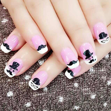 50 Pcs Cute Mixed Beard Pattern designs fingernail stickers nail art 3D Nail Art Sticker High Quality