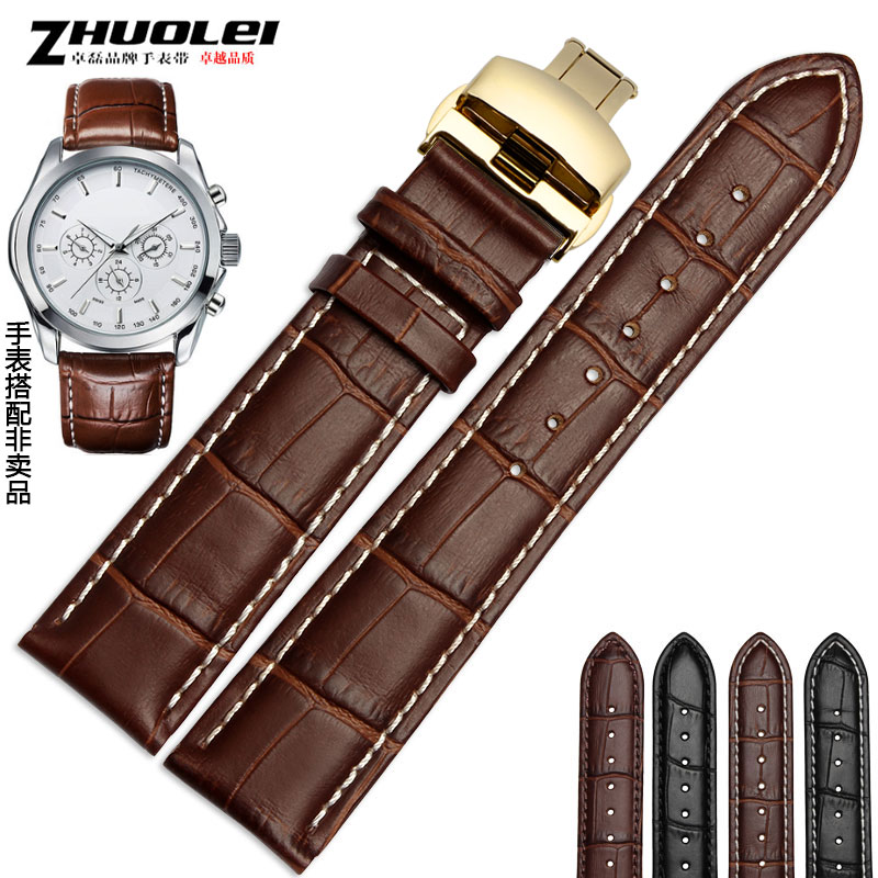 Watchband 12mm 14mm 16mm 17mm 18mm 19mm 20mm 21mm 22mm 24mm Soft Genuine Leather Alligator Grain Watch Band Strap Calf <br><br>Aliexpress