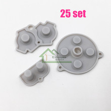 25 Set x  High Quality conductive rubber pads for Gameboy Advance for GBA console button silicone pads replacement