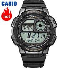 d57d5961ad8 Casio relógio Analógico de Quartzo dos homens Esportes Relógio Resina  Relógio Estudante Cinta AE-1100