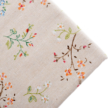 Cotton Linen Fabric Telas For Fat Quarters Sewing Material Cloth For Table Cover Bags Craft Dress Botanical Pattern 100x150cm(China)