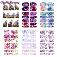 6 Sheet Nail Stickers Sets Flower Nail Decals Water Transfer Stickers Fingernail Decoration(China)