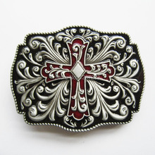 Distribute Belt Buckle Western Flowers Cross Belt Buckle Free Shipping 6pcs Per Lot Mix Style is Ok