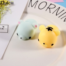 Dulcii Kawaii Ushihito Cute Key Bag Strap Pendant Soft Silicone Hand Fidget Squishy Toy Squeeze for Toy Cell Phone Charm cat dog(China)