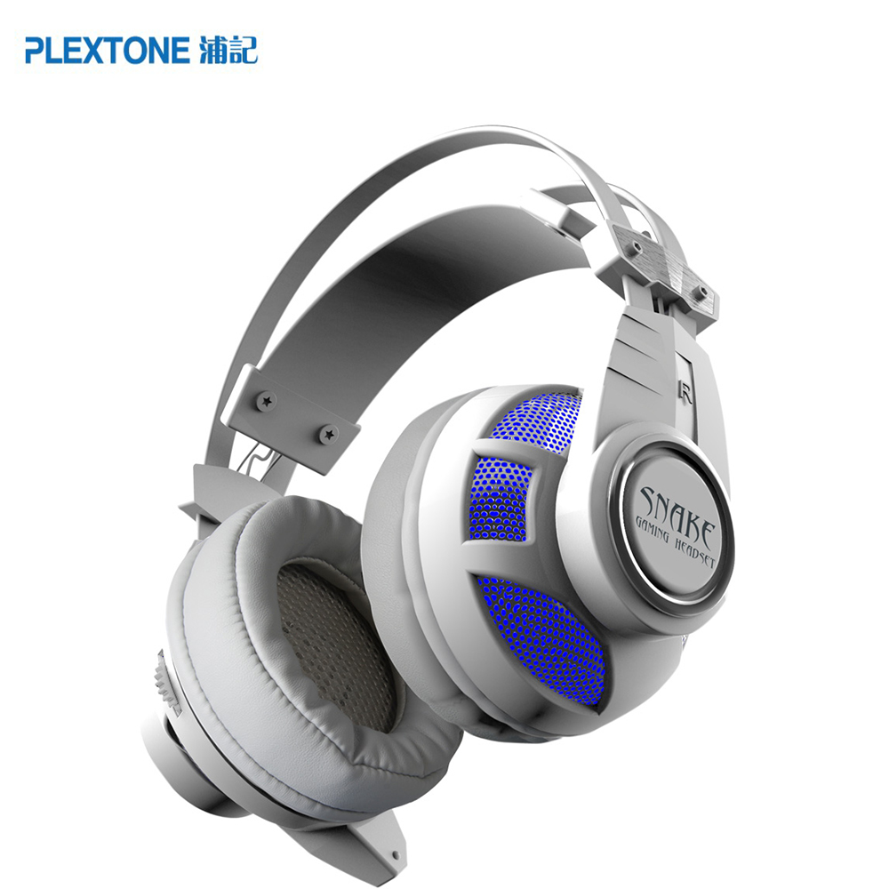 PLEXTONE PC900 Gaming Headset Voice Control Vibration Deep Bass HIFI Headphones with Microphone LED Lighting for Computer Gamer<br>
