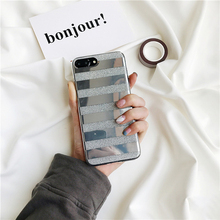 Buy Banjolu Luxury Shining Bling Glitter Phone Cases iPhone 8 7 6 6s Plus Mirror Horizontal Stripe Soft TPU Back Case Cover for $5.09 in AliExpress store