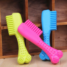 New Funny Pet Products 1 Pcs Durable Rubber Comb Pet Dog Puppy Dental Teething Healthy Teeth Gums Chew Toy