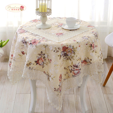 1 Piece Fashion Korean Style Beige Lace Table Cloth/ Lace Tablecloth Tea Table Cloth/ Modern Rural Tablecloth Chair Cover