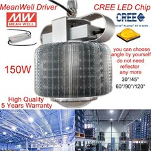 150W CREE LED HIGH BAY LIGHT WITH MEANWELL POWER SUPPLY AC90-305V for factory /warehouse used work light 5 YEARS WARRANTY(China)