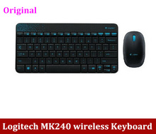 Free Shipping NEW Original Genuine Logitech MK240 wireless computer Combos Mini Keyboard and Mouse