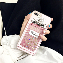 Hepu Korean girl pink perfume bottle liquid quicksand for iphone6s / 7 mobile phone shell Apple 6p /iphone 7plus hard shell