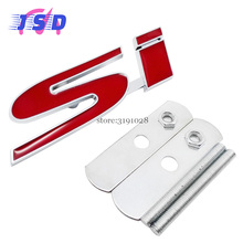 Car-styling 3D Metal Sticker Front Grille Emblem for Si Logo for Chrysler Citroen Daihatsu Fiat Honda ISUZU Jeep LADA MINI Buick(China)