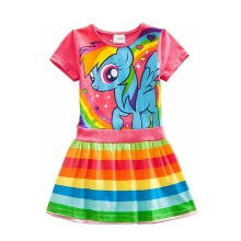 2017 new style cotton my little pony child dress  kids clothes children dress baby girl clothes summer dresses SH6218#