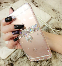 For Lenovo A319 A536 A7010 K3 K3 note K5 K5 note Fashion Rhinestone Hard Plastic Phone Cover  with Rosette Decoration Case