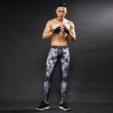 3D Speck Camouflage Pattern Compression Tights Pants Fitness Skinny Sweatpants Trousers Joggers Leggings Bodybuilding Male Men