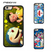 PEIDAN Stand by Me Doraemon Full cover cell phone case for iphone X 4 4s 5 5s 6 6s 7 8 6 plus 6s plus 7 plus 8 plus #ee427(China)