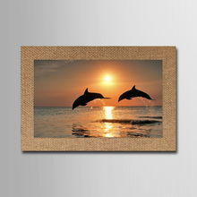 Wall Art Canvas Painting Dolphin Sunset Seascape Wall Pictures For Living Room Unframed Modular Pictures Cuadros Decoracion