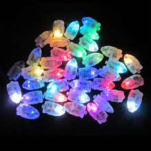 100pcs/lot LED christmas boda Party Lights white Balloon lamp for Paper Lanterns Centerpiece wedding decoration(China)