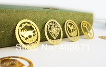 New Creative lace fashion designs Metal Bookmark Book marks Wholesale(China)