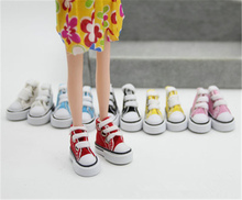 Doll Accessories Assorted Colors 7.5cm/3.5cm Canvas Shoes For 1/4 BJD Doll & Mini Doll Shoes &16 Inch Sharon doll Boots