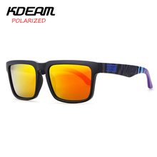 Kdeam Eyewear Reflective Coating Fashion Square Men Polarized Sunglasses Brand Designer Summer Sun Glasses Polaroid Full package(China)