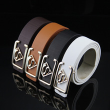 .Free shipping high-quality PU men's casual supermane buckle belt korean fashion women superman buckle waistbelt wholesale(China)