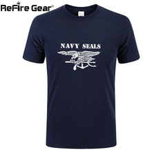 Summer Military T shirt Men Navy Seals Print Quick Dry Army Combat Tactical T-shirt Short Sleeve Breathable Cotton Casual Tees