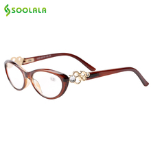 SOOLALA Fashion Reading Glasses Women and Men Full Frame Eyewear New Glasses Presbyopia 1.0 1.5 2.0 2.5 3.0 3.5 4.0 Diopter