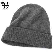 FURTALK Unisex Mens Winter Knitted 100% Wool Warm Hat For women Daily Slouchy hats Beanie Skull Cap