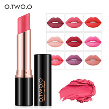O.TWO.O 12 Colors Waterproof Lipstick Kiss Proof Lipstick Matte Rouge Cosmetics Make Up lip