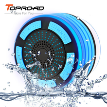 TOPROAD IP67 Waterproof Bluetooth Speaker Wireless Stereo MP3 Player Speakers LED Light Handsfree caixa de som with Suction Cup(China)