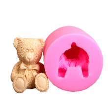3D Bear Cake Bakeware Mold 3D Silicone Mold DIY Chocolate Jelly Candy Pastry Decor Soap Mould