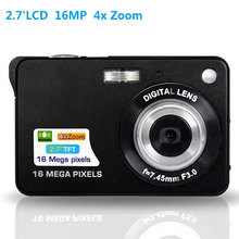 New 16.0 Mega pixels 3MP CMOS Sensor Cheap Digital Camera with 4x Digital Zoom and Rechareable Lithium Battery(China)