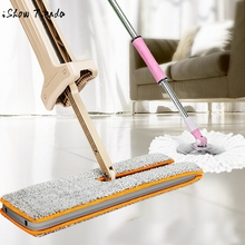 Useful Double-Side Flat Mop Hands-Free Washable Mops Home Cleaning Tool Lazy mop for home hotel Room Window Wall cleaning mops(China)