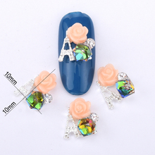 10pcs colorful crystal for nail art decoration A design 3d sliver glitter jewelry manicure acrylic nail supplies BL223