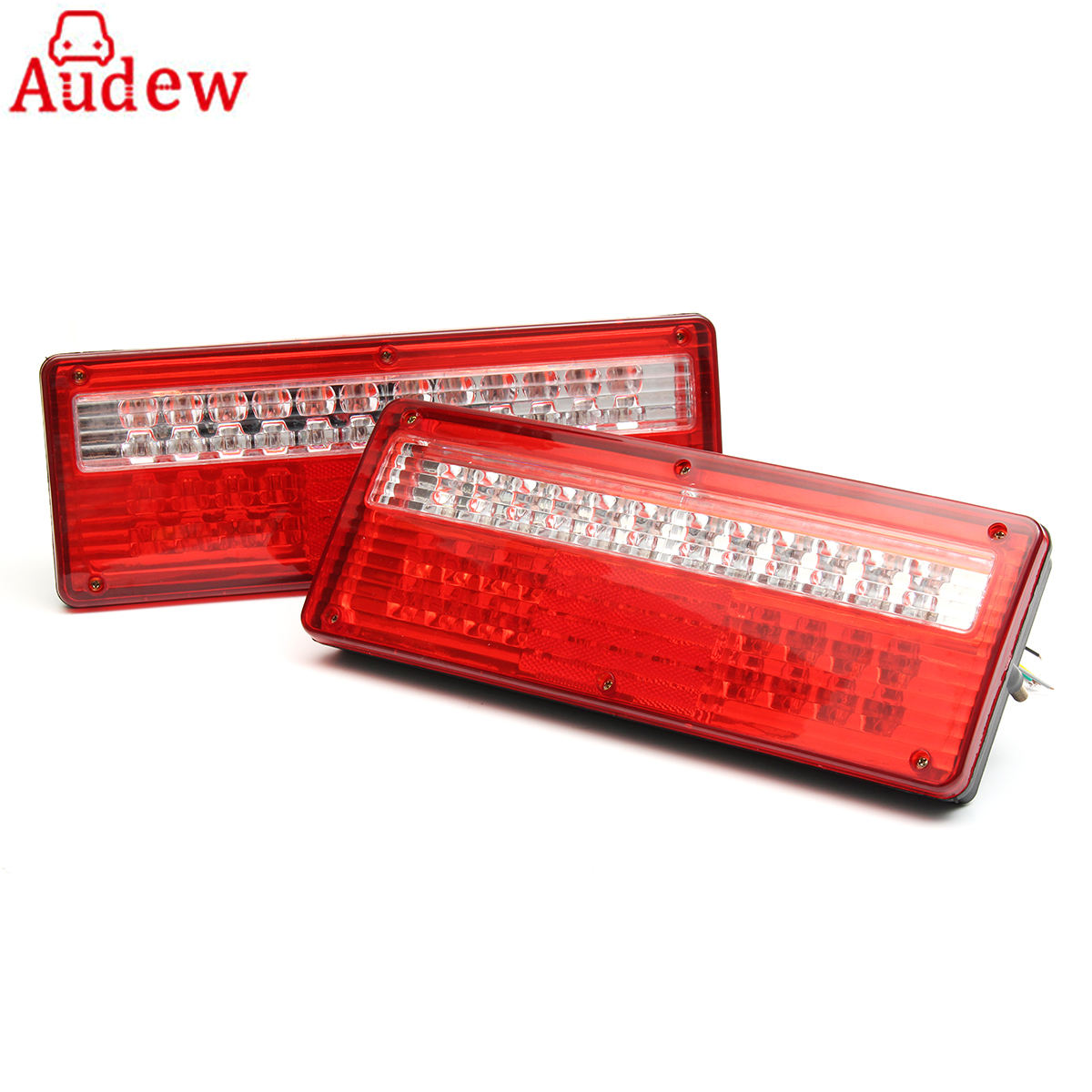 2Pcs Car 6 Function Tail reverse Light Turn Lamp brake Stop Light 24V LED Lorry Trailer Truck Caravan Tail Rear Light Lamp<br>