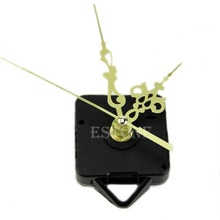 Free Shipping Quartz Clock Movement Mechanism Gold Hands DIY Replace Repair Parts Kit New