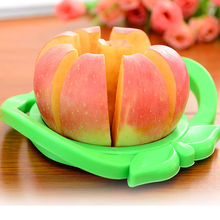 Novel Apple Shaped Design Stainless Steel Apple Slicer Corer Peeler Kitchen Item - Color Assorted(China)