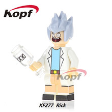 KF277 Super Heroes Rick Morty Termination Bricks Ronald McDonald Michael Jackson Building Blocks Bricks Education Toys Kids Gift