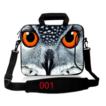 Universal carton owl notebook laptop sleeve bag 10 12 13 13.3 14 15 15.6 17 handle Lapopt shoulder bag PC handbag For ipad Asus