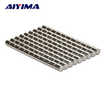 AIYIMA 100pcs 5*6mm Disc Strong Round Magnets Rare Earth Neodymium Magnet 5mm*6mm NdFeB Magnetic Tape Crafts Magnetite 5mmx6mm
