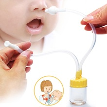 1PCS Baby Safe Nose Cleaner Vacuum Suction Nasal Mucus Runny Aspirator Inhale Baby Kids Healthy Care Convenient