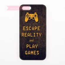 quotes keep calm and play game words Hard Back Cover Phone Case For iphone 4 4s 5 5s 5c se 6 6S 7 Plus iPod Touch cases for boys(China)