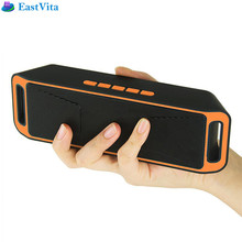 EastVita Wireless Bluetooth Speaker High-fidelity Bass Sound FM Radio USB Mic TF card Function Stereo Subwoofer Dual Loudspeaker