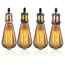Retro Lamp Base E27/E26 Vintage Antique Screw Pendant Light Bulb Socket Lamp Base Holder Fitting 110V-220V