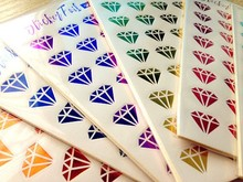 6Pcs/lot Stickers for Personal Diary DIY Hot Sale Diamond Scrapbooking Stickers for Laptop Travel TZ006(China)