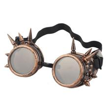 snowshine3 #5003 Rivet Steampunk Windproof Mirror Vintage Gothic Lenses Goggles Glasses(China)