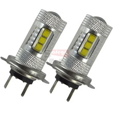 2pcs New Max 80W High Power h7 led BULB 80w LED Bulbs For cars on High Beam Daytime Running Lights led fog lights