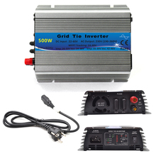 500W Grid Tie Inverter MPPT Function 22-60VDC Input  To 110V or 230VAC Pure Sine Wave Inverter 500W Solar Power Inverter